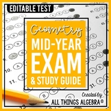 Geometry: First Semester Test (Midterm) and Study Guide