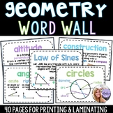 Geometry - Middle School & High School - 40 Page Word Wall