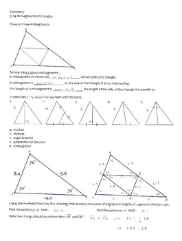 Geometry -- Midsegments of triangles