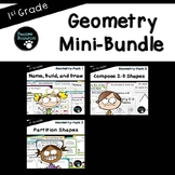 Geometry Mini-Bundle (First Grade-1.G.1, 1.G.2, and 1.G.3)