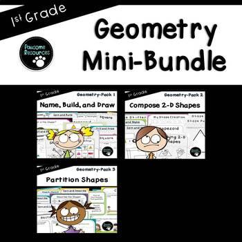 Geometry Mini-Bundle (First Grade-1.G.1, 1.G.2, and 1.G.3)