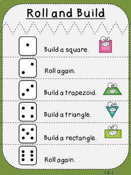 Geometry Bundle (First Grade-1.G.1, 1.G.2, and 1.G.3)