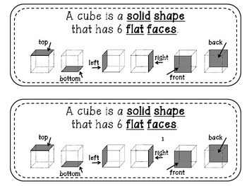 Geometry Mini Readers – Solid Shapes – cube