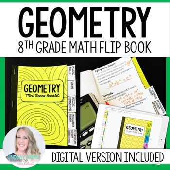 Geometry Mini Tabbed Flip Book for 8th Grade Math