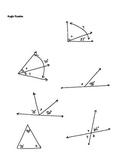 Geometry Missing Angle Puzzles Supplementary Parallel Righ