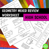 Geometry Mixed Review Worksheet