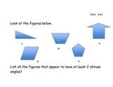 "Geometry ""Mock STAAR"" Questions TEKS 4.8A, 4.8B, 4.8C"