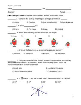 Geometry Module 1 Assessment