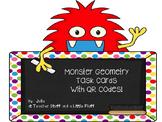 Geometry Monster Task Cards with QR Codes
