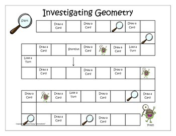 Geometry -  Monstrous Math Game for Third Grade