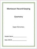 Geometry - Montessori Record Keeping