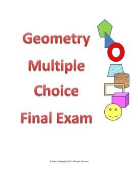 Geometry Multiple Choice Final Exam