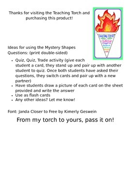 Geometry Mystery Shapes