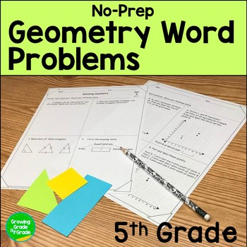 Geometry Worksheets 5th Grade Common Core Word Problems