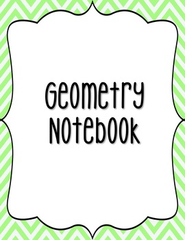 7th Grade Geometry Notebook