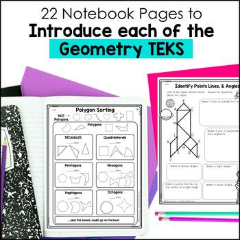 Geometry Notebook 4th Grade TEKS by Marvel Math