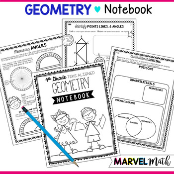 Geometry Notebook 4th Grade TEKS by Marvel Math