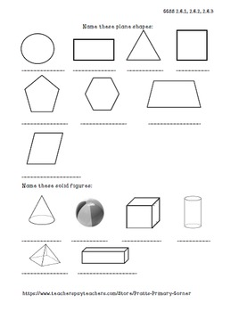 Geometry Notebook- Envision Math Series (FREEBIE)