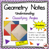 Interactive Geometry Notes: Classifying Angles