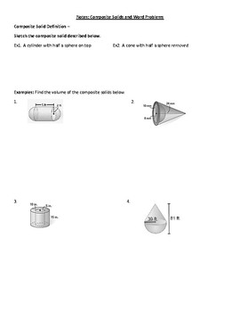 Geometry Notes: Composite Solids and Word Problems