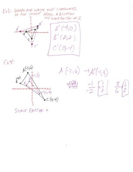 Geometry Notes: Dilations