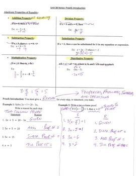 Geometry Notes: Introduction to Proofs