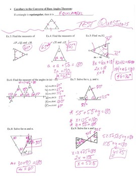Geometry Notes: Isosceles Triangles and Related Theorems
