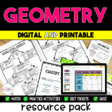 Geometry Notes Pack {5.G.3 & 5.G.4} - Distance Learning