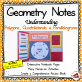 Interactive Geometry Notes: Polygons, Quadrilaterals and Parallelograms