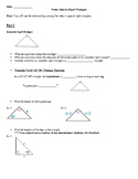 Geometry Notes: Special Right Triangles