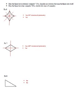 Geometry Notes: Symmetry - Line and Rotational