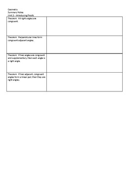 Geometry Notes Template 2