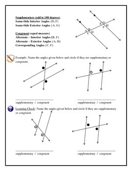 Geometry - Transversals, Angles, Bisectors