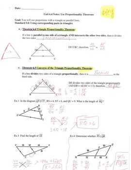 Geometry Notes: Triangle Proportionality Theorems