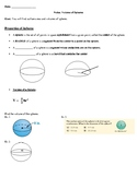 Geometry Notes: Volume of Spheres