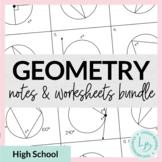 Geometry Notes & Worksheets Bundle