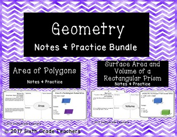 Geometry Notes and Practice Resources Bundle
