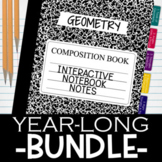 Geometry Notes for Interactive Notebooks YEAR-LONG BUNDLE