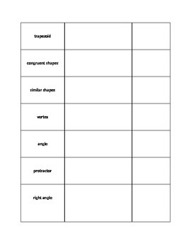 Geometry Notes/Definitions Template