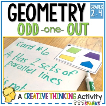 Geometry Odd one Out Logic Reasoning Task Cards