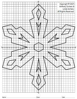 Snowflake Mystery Picture - 4 Quadrants (Geometry On Ice)