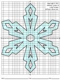 Snowflake Mystery Picture - 4 Quadrants (Geometry On Ice)