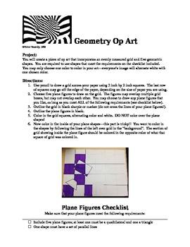 Geometry Op Art Directions