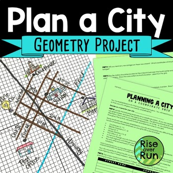 Graphing Parallel & Perpendicular Lines Project for Geometry