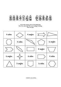 Geometry - POLYGON CARD SORT