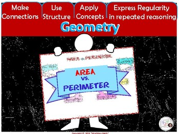 HS Math Poster: AREA, PERIMETER/ Interactive Notebook Classroom Decor