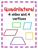 Geometry POSTERS Circles Quadrilaterals Triangles Kid Friendly CUTE