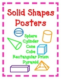 Geometry POSTERS Solid Shapes 3D Kid Friendly CUTE Easy Colorful!