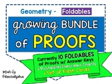 Geometry - PROOFS Bundle of Foldables, Charts, and Flash Cards