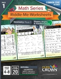 Geometry Worksheets Pack 1 - Shapes, Angles, and Transformations - 4th–8th